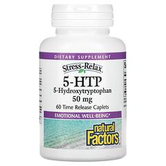 Natural Factors, 5-HTP,50 毫克,60 片緩釋囊片