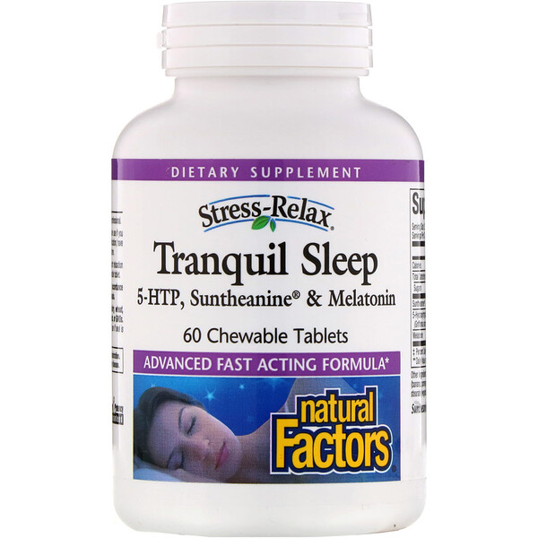 Natural Factors, Stress-Relax, Tranquil Sleep, 60 Chewable Tablets