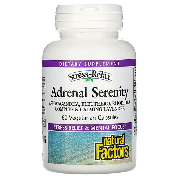 Natural Factors, Stress-Relax, Adrenal Serenity, 60 Vegetarian Capsules