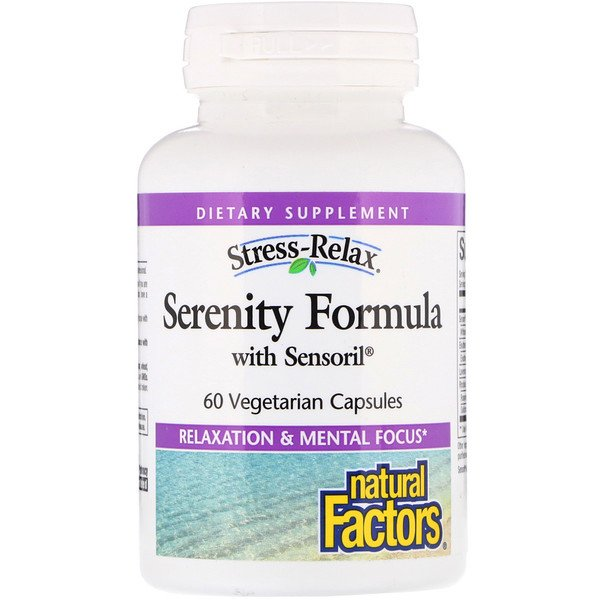 Natural Factors, Stress-Relax, Serenity Formula with Sensoril, 60 Vegetarian Capsules