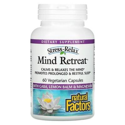 Купить Natural Factors Stress-Relax, Mind Retreat, 60 Vegetarian Capsules