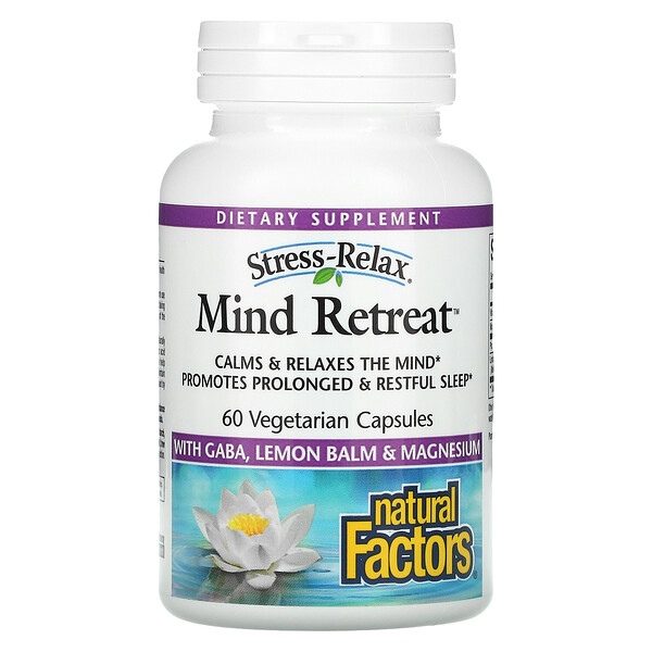 Stress-Relax, Mind Retreat, 60 Vegetarian Capsules