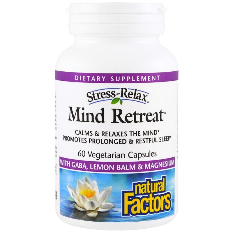 Natural Factors, Stress-Relax, Mind Retreat , 60 Veggie Caps