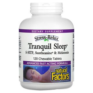 Natural Factors, Stress-Relax, Tranquil Sleep, 5-HTP, Suntheanine & Melatonin, 120 Chewable Tablets