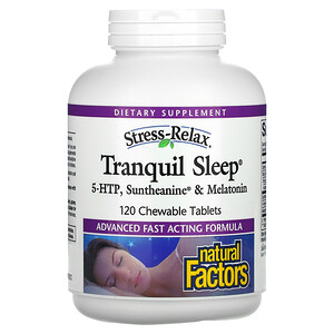 Natural Factors, Tranquil Sleep, 120 Chewable Tablets