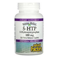 Natural Factors, 5-HTP, 100 mg , 120 Time Release Caplets