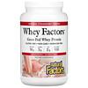 Natural Factors, Whey Factors, 100% натуральный сывороточный белок, с натуральным клубничным вкусом, 2 фунта (907 г)