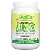 Natural Factors, VegiDay, Vegan Organic All In One Nutritional Shake, Natural Unflavored, 12.7 oz (360 g)