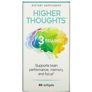 Natural Factors, 3 Brains, Higher Thoughts, 90 Softgels