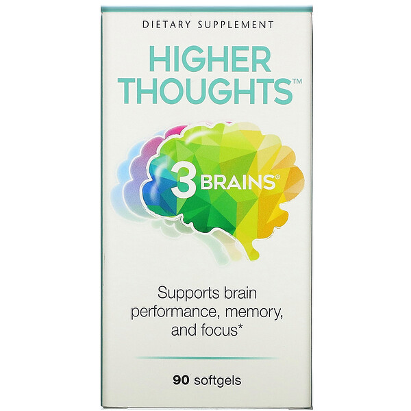 3 Brains, Higher Thoughts, 90 Softgels