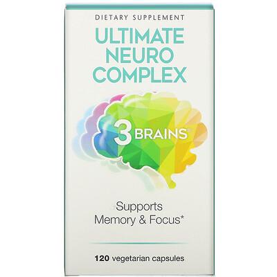 Natural Factors 3 Brains, Ultimate Neuro Complex, 120 вегетарианских капсул