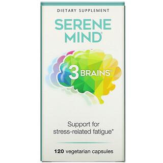 Natural Factors, 3 Brains, Serene Mind, 120 Vegetarian Capsules