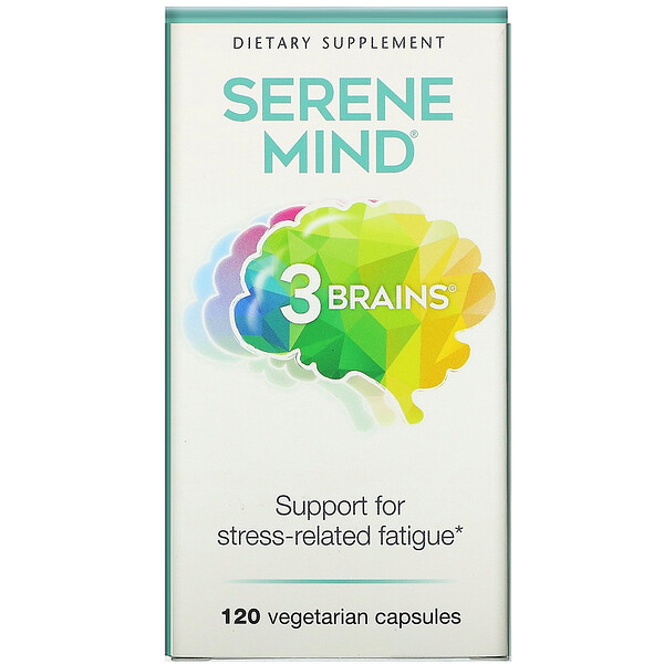 3 Brains, Serene Mind, 120 Vegetarian Capsules