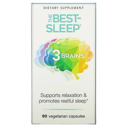 Купить Natural Factors 3 Brains, The Best-Sleep, 90 Vegetarian Capsules