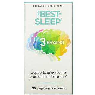 Natural Factors, 3 Brains, The Best-Sleep, 90вегетарианских капсул