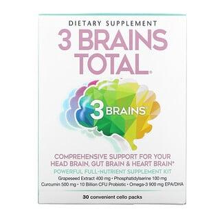 Natural Factors, 3 Brains Total, 30 Convenient Cello Packs
