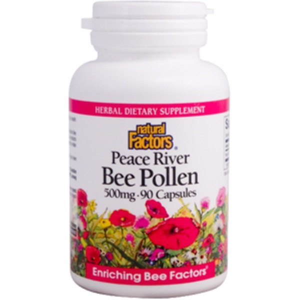 Natural Factors, Peace River Bee Pollen, 500 mg, 90 Capsules (Discontinued Item)