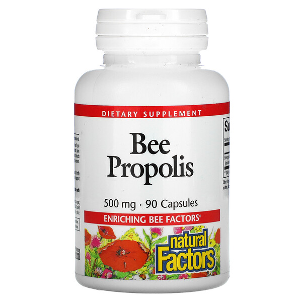 Natural Factors, Bee Propolis, 500 mg, 90 Capsules