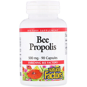 Натурал Факторс, Bee Propolis, 500 mg, 90 Capsules отзывы