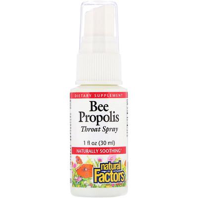 Natural Factors Bee Propolis, Throat Spray, 1 fl oz (30 ml)