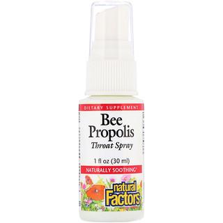 Natural Factors, Bee Propolis Throat Spray, 1 fl oz (30 ml)
