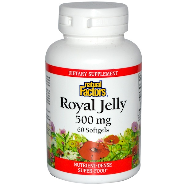 Natural Factors, Royal Jelly, 500 mg, 60 Softgels (Discontinued Item)