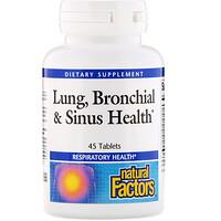 Natural Factors, Lung, Bronchial & Sinus Health, 45 태블릿