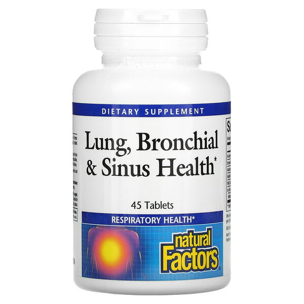 Lung, Bronchial & Sinus Health, 45 comprimés