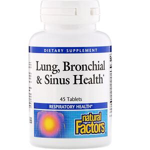 Натурал Факторс, Lung, Bronchial & Sinus Health, 45 Tablets отзывы покупателей