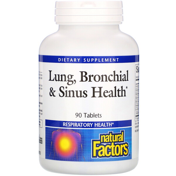 Natural Factors, Lung, Bronchial & Sinus Health, 90 Tablets