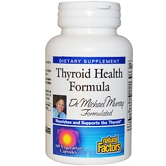 Natural Factors, Thyroid Health Formula, 60 Veggie Caps