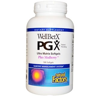 Natural Factors, WellBetX PGX, Plus Mulberry, 180 Softgels