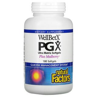 Natural Factors, WellBetX PGX, Maulbeere Plus, 180 Softgel-Kapseln