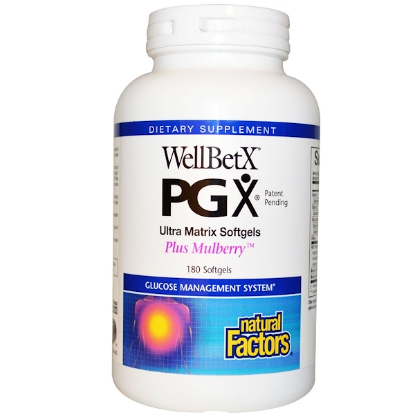 Natural Factors, WellBetX PGX, Amoreira Plus, 180 Cápsulas Vegetarianas