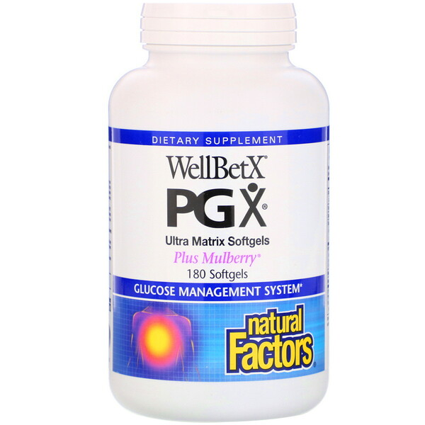 Natural Factors, WellBetX PGX، Plus Mulberry، 180 كبسولة هلامية