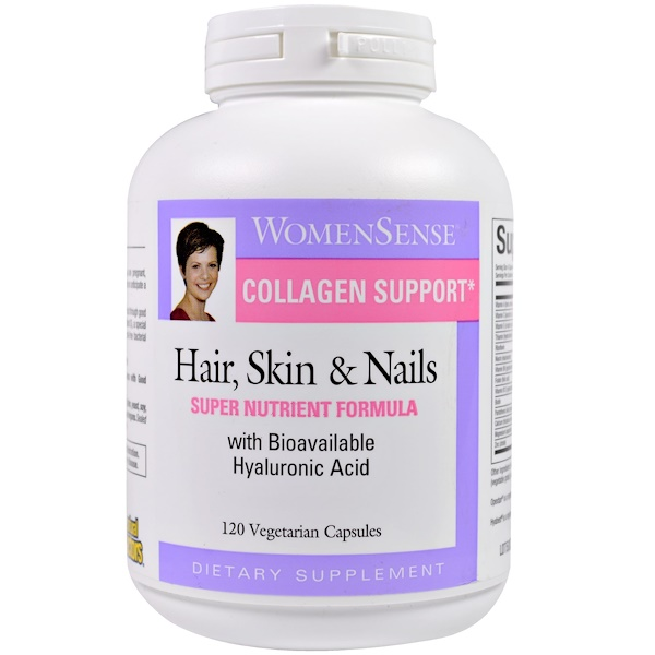 Natural Factors, Collagen Support, Hair, Skin & Nails, 120 Veggie Caps (Discontinued Item)