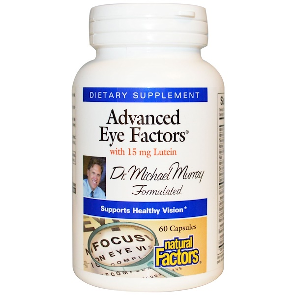 Natural Factors, Advanced Eye Factors, 60 Capsules