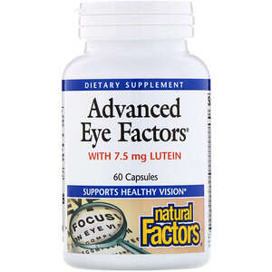 Натурал Факторс, Advanced Eye Factors, 60 Capsules отзывы