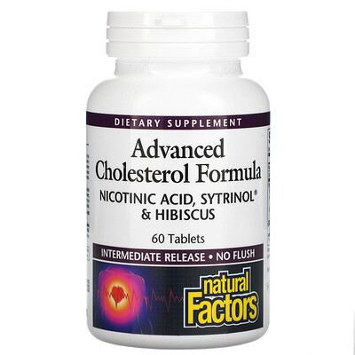 Natural Factors Advanced Cholesterol Formula, 60 Tablets
