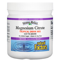 Natural Factors, Magnesium Citrate, Tropical Drink Mix, 300 mg, 8.8 oz  (250 g)
