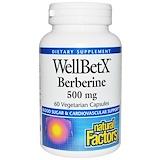 Отзывы о Natural Factors, Берберин WellBetX, 500 мг, 60 вегетарианских акций
