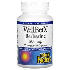 Natural Factors, WellBetX Berberine,500 毫克,60 粒素食膠囊