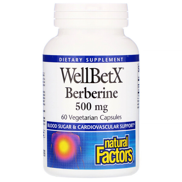 Natural Factors, WellBetX Berberine, 500 mg, 60 Vegetarian Capsules