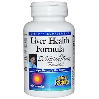 Natural Factors, Fórmula de Saúde do Fígado, 60 cápsulas