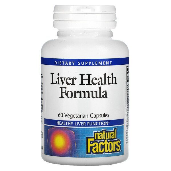 Natural Factors, Liver Health Formula, 60 Vegetarian Capsules