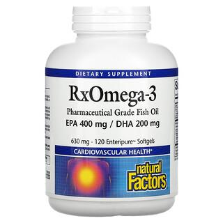 Natural Factors, Rx Omega-3, 120мягких таблеток Enteripure