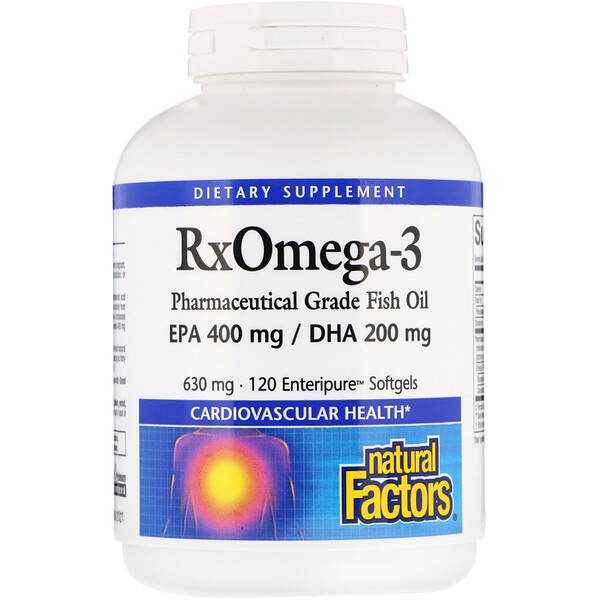 Natural Factors, Rx Omega-3, 120 Enteripure Softgels