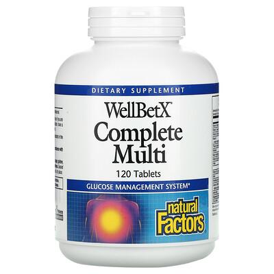 Natural Factors WellBetX Complete Multi, 120 Tablets