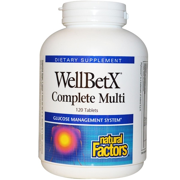 Natural Factors, WellBetX Complete Multi, 120 comprimidos