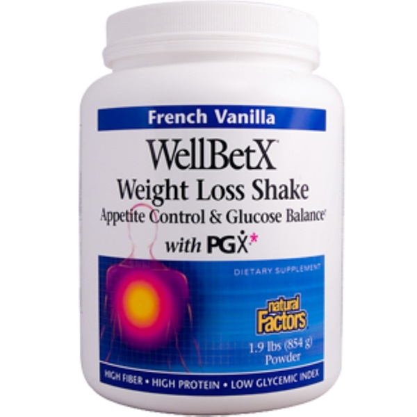 Natural Factors, WellBetX, Weight Loss Shake, French Vanilla, 1.9 lbs (854 g)